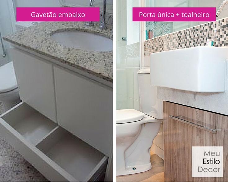 Dúvidas para reformar um banheiro pequeno? • MeuEstiloDecor -> Banheiro Pequeno Custo