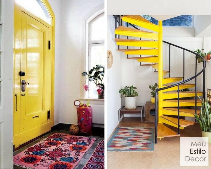 personalidade-significado-amarelo-decoracao-escada