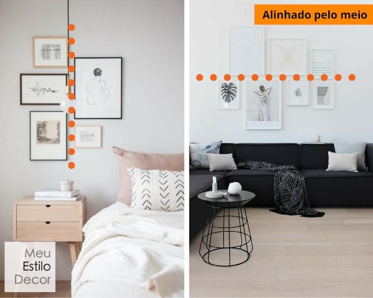 decoração simples e estilosa de a a z parede galeria