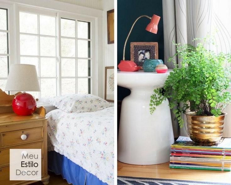 Luminária de mesa como ponto de cor na decoração