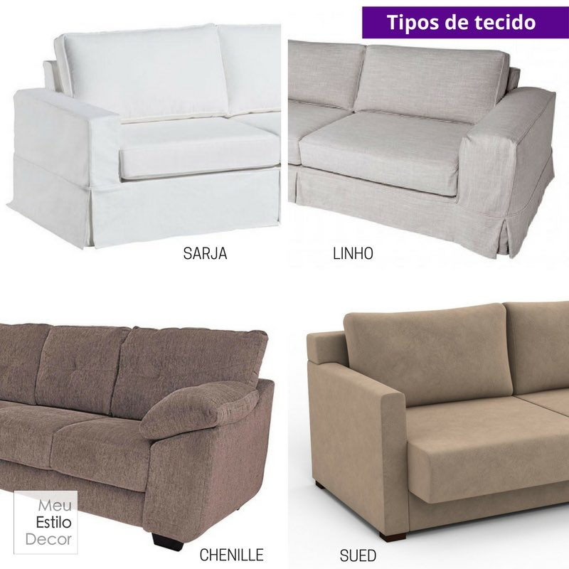 Como escolher sofa sem stress tipos de tecido