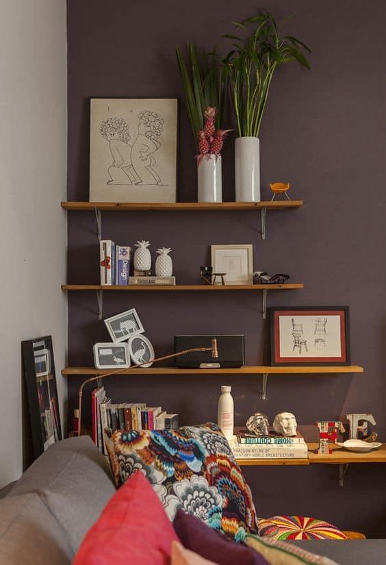 melhores cores neutras para paredes marrom destaque