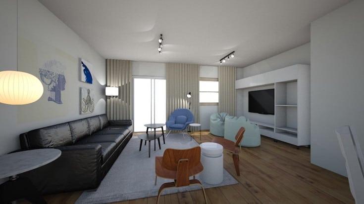 sala de estar com tv sim ou não sala em 2 ambientes