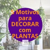 5 Motivos para Decorar com Plantas