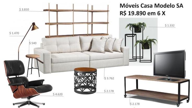sala decorada 4 estilos 4 preços industrial