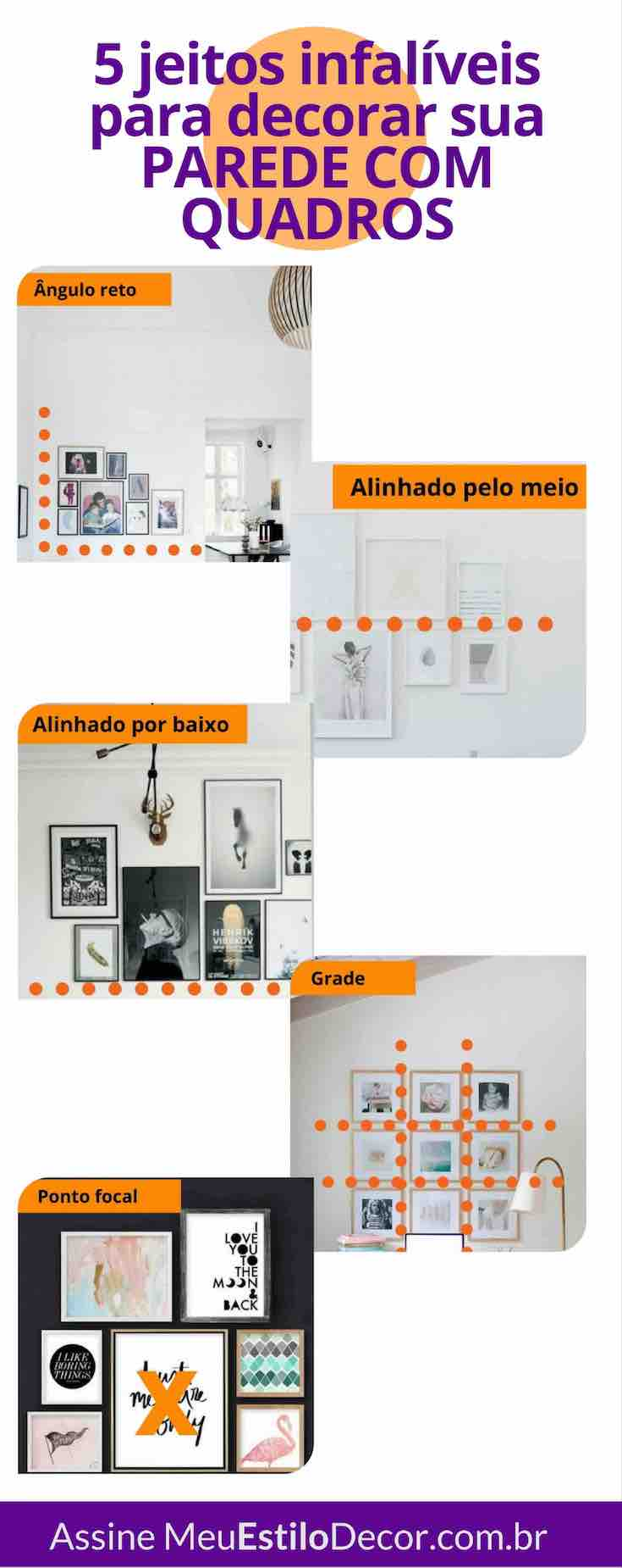 decoracao simples e estilosa parede galeria