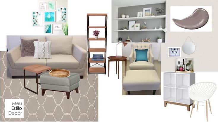 como decorar sala pequena painel inspiração