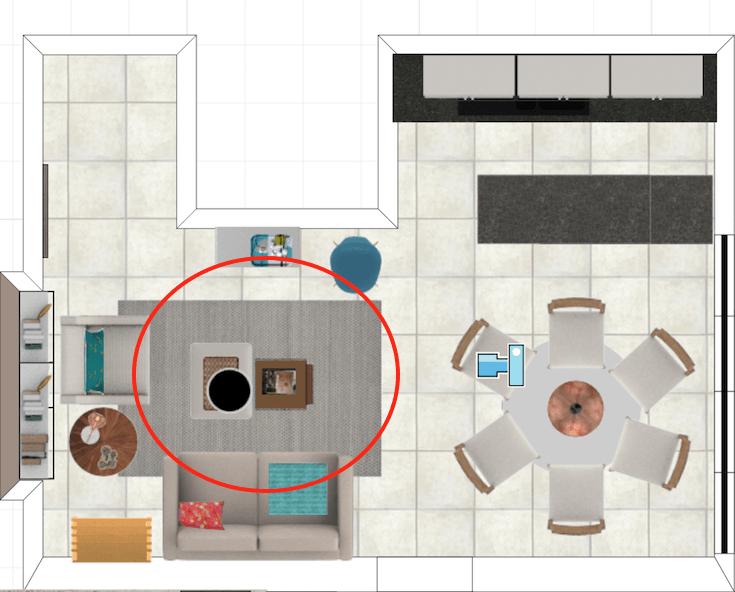 como arrumar a sala sem TV - projeto de decoração online MeuEStiloDecor