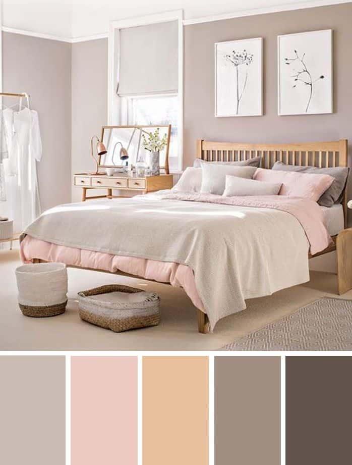 combinação de cores e moods na decoração feminino e descontraído