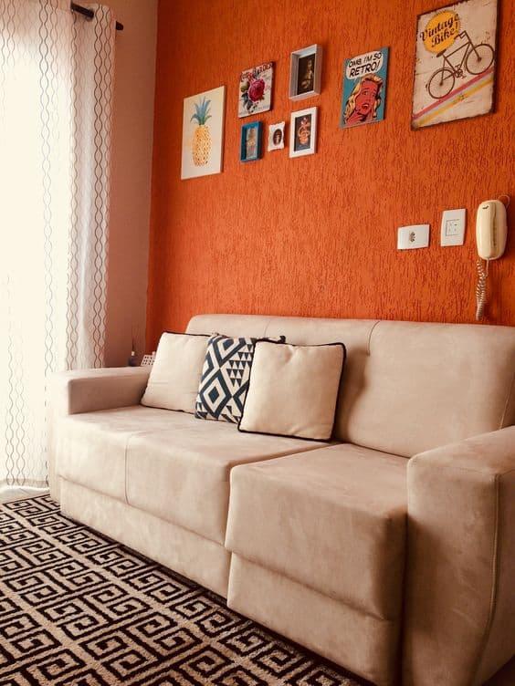 combinação de cores e moods ousadia laranja