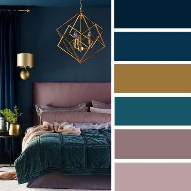 combinacao de cores e moods na decoração acolhedor sofisticado