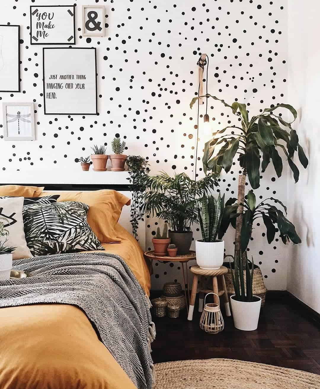 decoracao urban jungle quarto