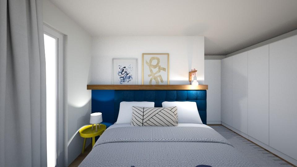 quarto de casal decorado cabeceira camuflada