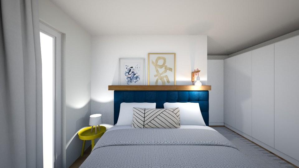 quarto de casal decorado cabeceira estofada