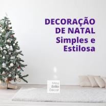 Decoração de Natal Simples e Estilosa