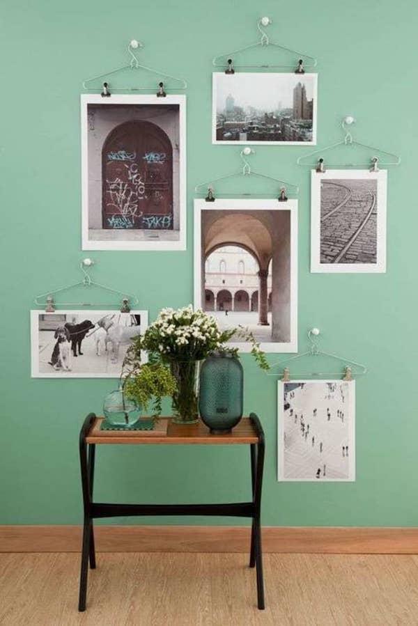 decoração com fotos suporte inusitado