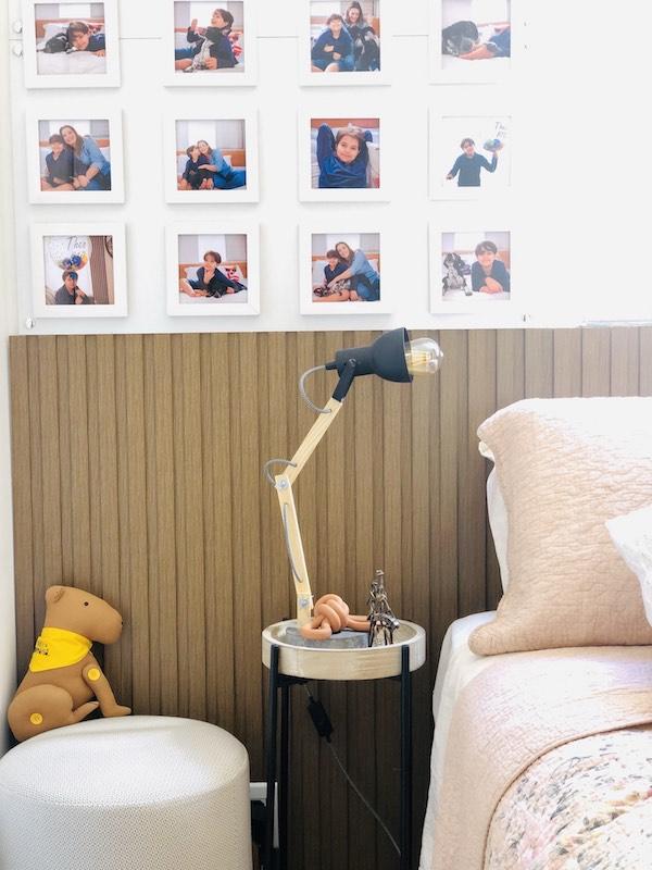 decoração com fotos para quarto