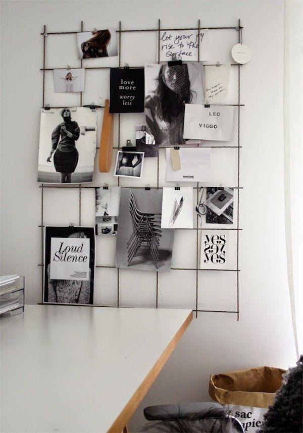 decoração com fotos aramado