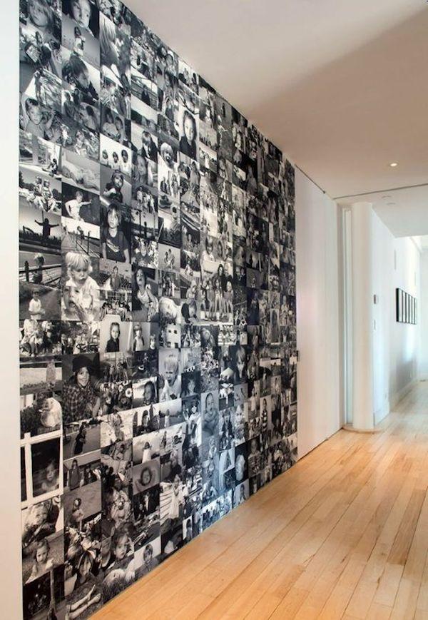 decoração com fotos papel de parede