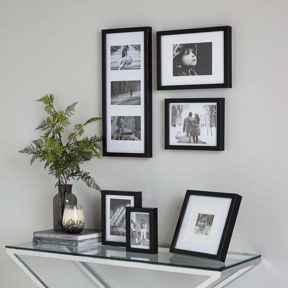 decoração com fotos porta-retratos