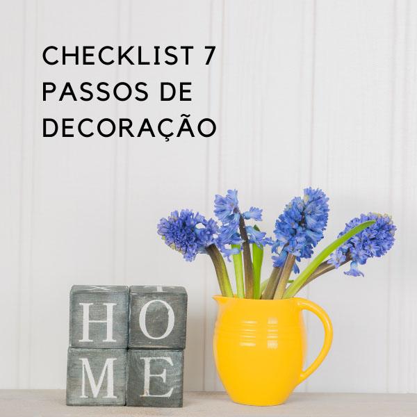 checklist 7 passos de decoração