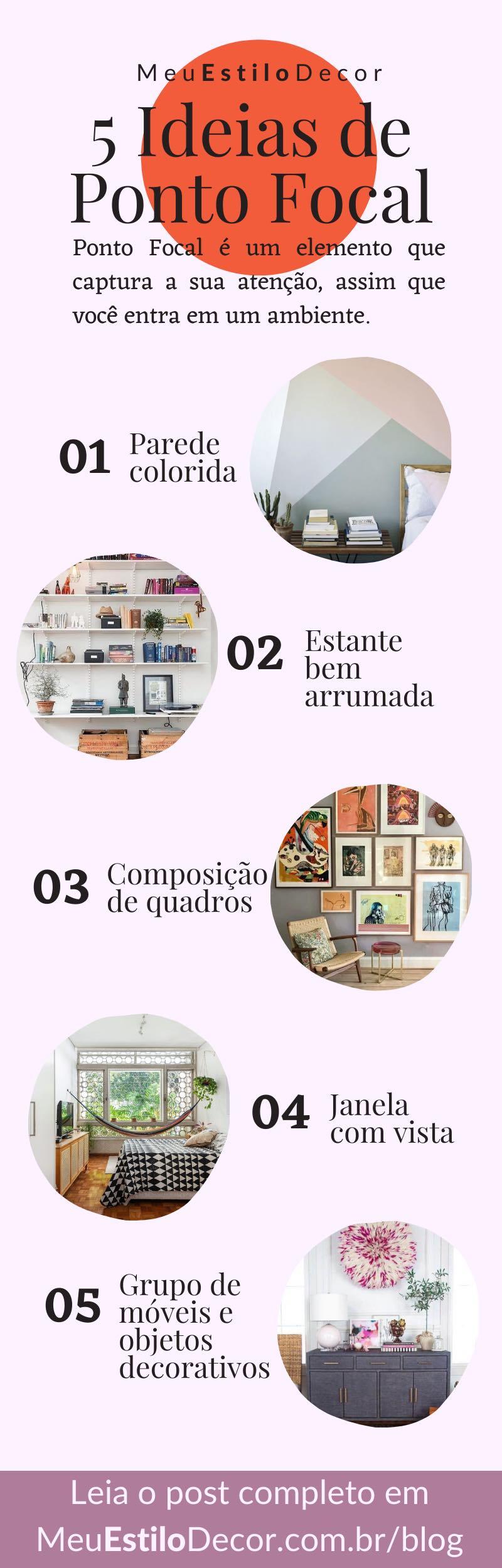 5 ideias de ponto focal na decoração